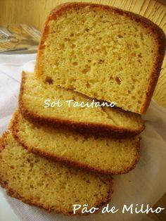 Pão de Milho na Máquina de Fazer Pão | Culinária-Receitas - Mauro Rebelo