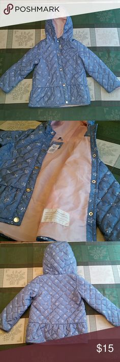 Floral Midweight Quilted Jacket In good condition Carter's Jackets & Coats Raincoats