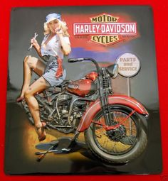 Blondie On Harley Davidson Motorcycles Parts & Service Sign  #HarleyDavidsonMotorcycles  #HarleyDavidson  #Motorcycles