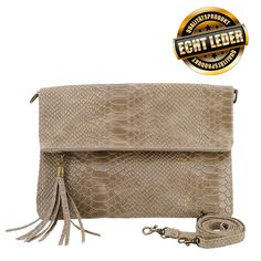 Echt Leder Clutch in Schlangenoptik als Crossbody bag, Clutch, Crossbody Bag, Bags, Trends, Fashion Styles, Artificial Leather, Nice Asses, Viajes, Wedding
