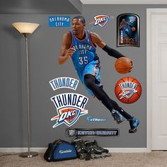 20924182cfd3 Fathead Kevin Durant No. 35 - Wall Sticker Outlet Jamaal Charles