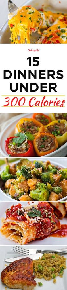 15 Dinners Under 300 Calories #cleaneating #dinnerrecipes #lowcalorie