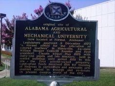 Alabama A&M Historical marker