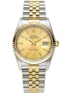 | Rolex Men's Watch: Rolex Datejust Watch-16233.. I own this one, believe it or not.