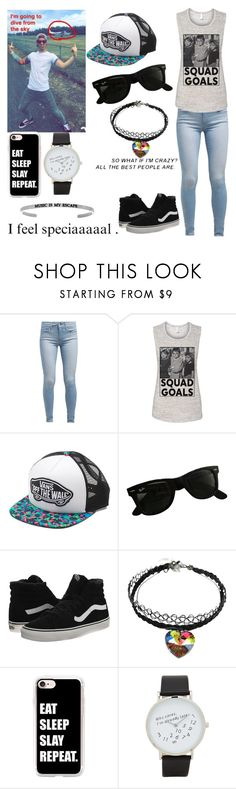 """""""My Items Challenge\Going skydiving with Josh"""" by longboarder21 ❤ liked on Polyvore featuring Levi's, Vans, Ray-Ban, Casetify and ALDO"""