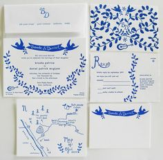 blue+white+invitation+suite