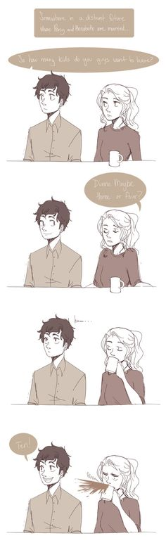 Percabeth: the married years xDD
