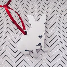 Puppy Love  Metal Ornament  Christmas Gift by theDuoStudio on Etsy