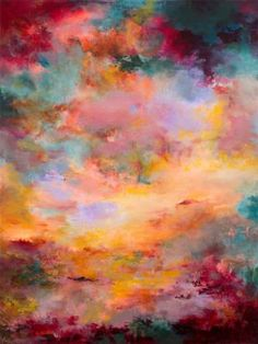 "Saatchi Art Artist Rikka Ayasaki; Painting, ""Sunset 117( New painting! 65x54cm, acrylic on canvas)"" #art"