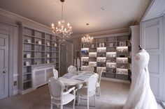 The Viewing Library- Come in and see our range of beautiful shoes and accessories whilst we play back your bridal dress images from the catwalk! Prepare to fall in love in this room!