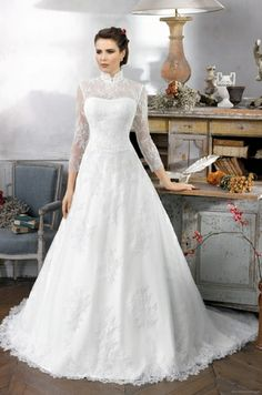Lots of long sleeve and modest wedding dresses