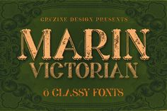 Marin - Victorian Font by Cruzine on @creativemarket