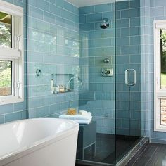 large duck egg blue bathroom tiles - Google Search