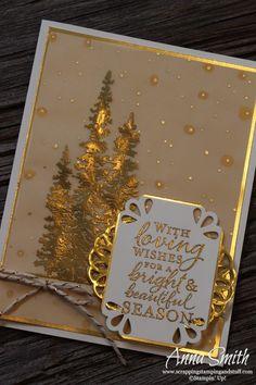 Splitcoaststampers FOOGallery - Gold Wonderland Christmas Card