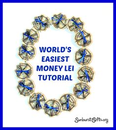 Say Aloha to World's Easiest Money Lei Money leis make for a unique and memorable gift that the gift recipient can wear on their special day, such as graduation. Money Lay For Graduation, Diy Graduation Gifts, Leis For Graduation, Graduation Parties, Graduation Decorations, Graduation Pictures, Holiday Decorations, Money Necklace, Creative Money Gifts