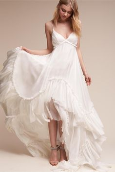 airy silk chiffon | Soie Gown from BHLDN
