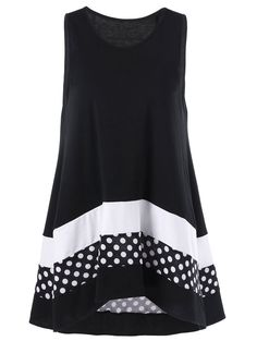 $7.84Plus Size Polka Dot Tunic Top in Colormix | Sammydress.com