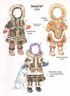 eskimo paper doll outfits