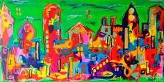 Kunstsamlingen | Artist: Smilla Daisy Dahl | Title: Green Limit | Height: 80cm,  Width: 160cm | Find it at kunstsamlingen.com #kunstsamlingen #kunst #artcollection #art #painting #maleri #galleri #gallery #onlinegallery #onlinegalleri #kunstner #artist #danishartists #smilladaisydahl