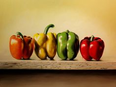 Line Dance Peppers by Delmus Phelps Oil ~ 18 x 24