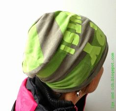 Mütze aus altem Shirt / Hat made from old shirt / Upcycling