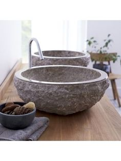 Aufsatzwaschbecken aus Marmor Scrula Grey | Wohntrend Marmor | homeToday.de