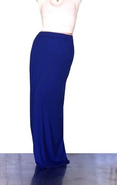 Kentucky game wear ;) Royal Blue Maxi Skirt by SarahLMeyers on Etsy
