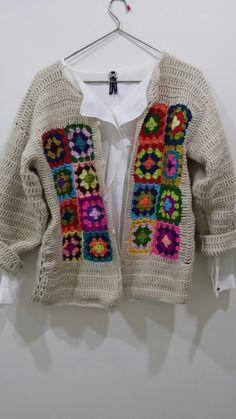 Crochet Fashion, Diy Fashion, Crochet Cardigan, Knit Crochet, Afghan Clothes, Hippie Crochet, Cotton Crafts, Crochet Magazine, Crochet Clothes