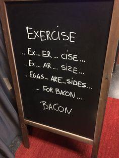 Excercise for bacon #horeca #terrasbord #krijtbord