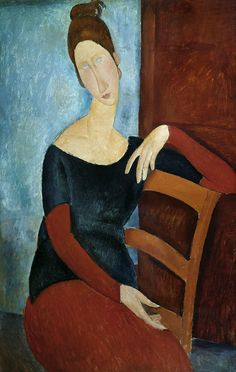 The artist´s wife.  Amadeo Modigliani