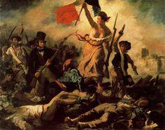La Libertad guiando al Pueblo. Delacroix. Romanticismo. S. XIX.