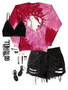 """""""Untitled #247"""" by tellthewolvesimhome ❤ liked on Polyvore featuring Monki, Anna Sui, Colors Of California and Kat Von D"""