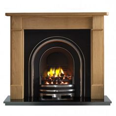 The Bedford Arch is a combination of the Bedford wooden surround and the Arch cast iron insert. The Bedford wooden surround is handmade in England by Knapp woodworking and made from solid wood. Wooden Fireplace, Cast Iron Fireplace, Victorian Fireplace, Electric Fireplace, Fireplace Suites, Fire Surround, Wood Burner, Stove, Solid Wood