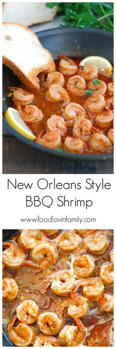 New Orleans Style BBQ Shrimp | http://www.foodlovinfamily.com/new-orleans-style-bbq-shrimp/
