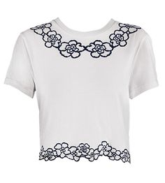 Rose Embroidery Tee R120