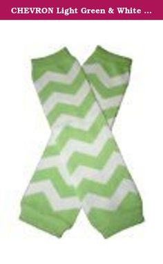 CHEVRON Light Green & White Zig Zag Baby Sweet Leggings/Leggies/Leg Warmers for Cloth Diapers - Little Girls - BubuBibi. Need some accessories to go with that diaper - Here you go! One size fits most.