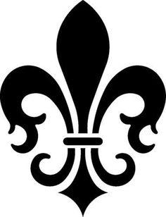 New Custom Screen Printed T-shirt Fleur De Lis Small - Free Stencil Patterns, Wood Patterns, Stencil Designs, Stencils, Stencil Art, French Symbols, Triangle Template, Custom Screen Printing, French Decor