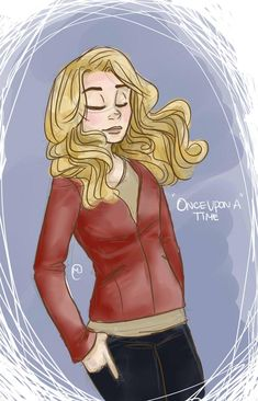 Once Upon A Time fan art. Emma. She seems so comfortable in her own skin. I kinda expect hook to be their to catch her.