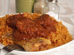 Liberian Food -- Rice & Fried Fish