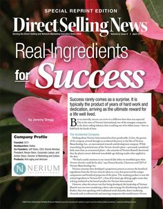 Nerium  International featured in Direct Selling News.