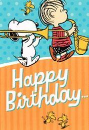 """Snoopy plays the Birthday Song"" Happy Birthday! Peanuts Happy Birthday, Happy Birthday Charlie Brown, Charlie Brown Y Snoopy, Snoopy Birthday, Snoopy Love, Snoopy And Woodstock, Happy Birthday Pictures, Happy Birthday Messages, Happy Birthday Quotes"