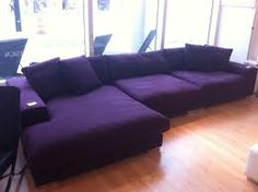 I'm not doing a Purple Living Room Set...It will be Charcoal Grey with Purple Accents, but I thought this was Cool!!