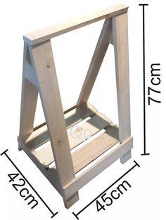escritorio mesa de caballetes en madera en crudo 50x120cm