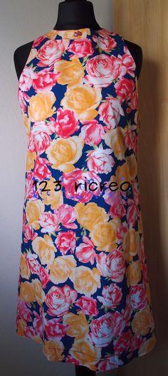 #prendisole in cotone a fiori dalla linea semplice idea per le torride giornate estive -  123ricreo