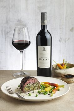 #Sgwamba and olive stuffed beef tenderloin with smoked cheese and wine sauce, paired with #Nederburg Heritage Heroes The Brew Master #SouthAfrica