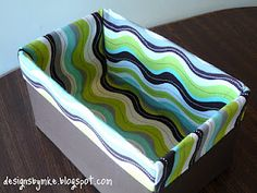 Fabric liner for storage boxes