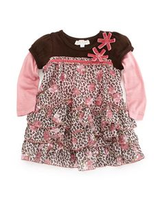 Animal-Print Baby Doll Dress, 12-24 Months by Baby Sara at Last Call by Neiman Marcus.