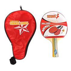 EverTrustTMLong Handle Shakehand Table Tennis Racket Pingpong Paddle  Waterproof Bag Pouch Red Sports Accessories *** You can get additional details at the image link.(This is an Amazon affiliate link and I receive a commission for the sales)