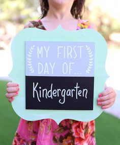 Look at this Mint & Gray 'First Day Of' Chalkboard Sign on #zulily today!