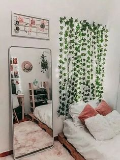 15 Inspirational Living Room Decor Ideas wayfair living room, h. 15 Inspirational Living Room Decor Ideas wayfair living room, home living room dec Room Ideas Bedroom, Dream Bedroom, Bedroom Inspo, Decor Room, Bedroom Decor Teen, Big Mirror In Bedroom, College Bedroom Decor, Cute Diy Room Decor, Mirrored Bedroom